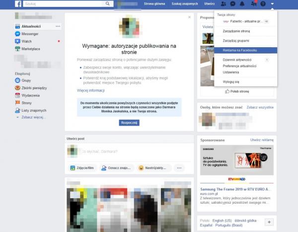 konfiguracja pixel facebook - krok 1